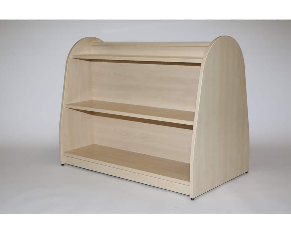 Double Sided Unit - Shelves one side Display Book Shelf on other - B