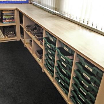 Classroom Built-in Storage
