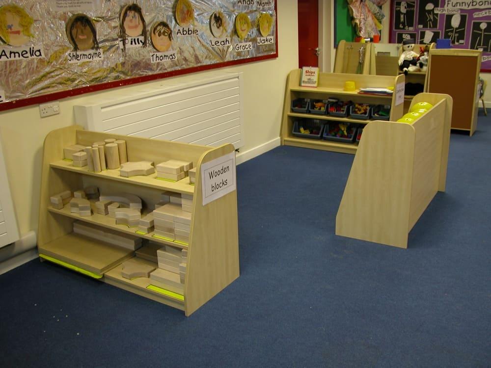 Mini Range Shelf Units - Class Layout