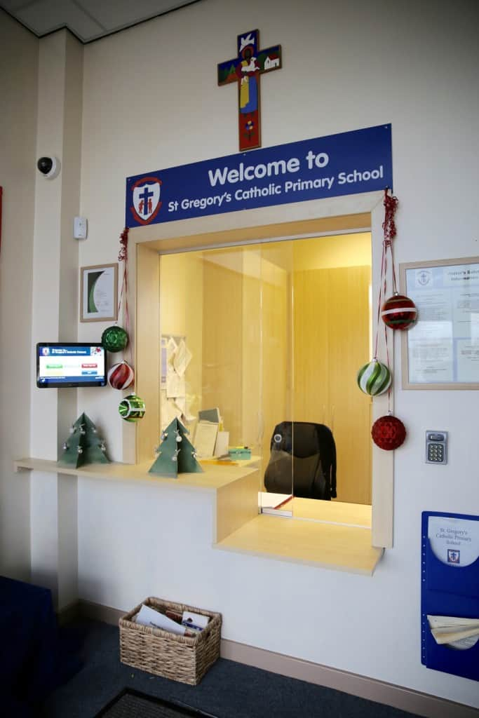 St Gregory's Reception Counter