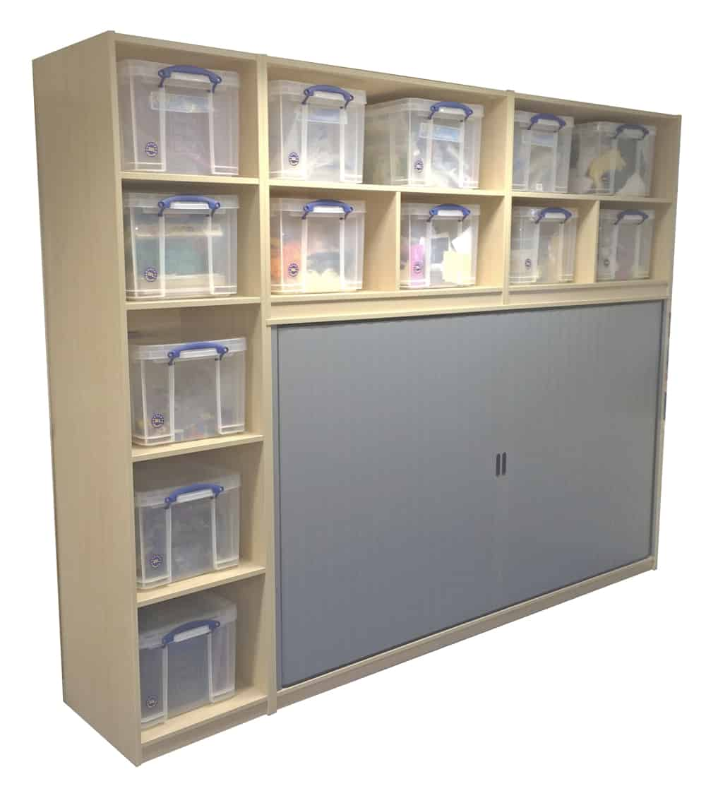 Tambour Cloakroom with storage