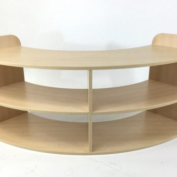 Quarter curved shelf unit