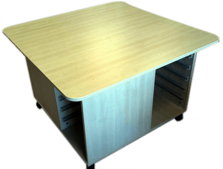 Mobile Play Table for Standing