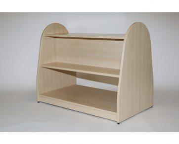Double Sided Shelf Unit - Through Base Shelf