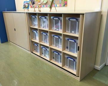 School Corridor Storage