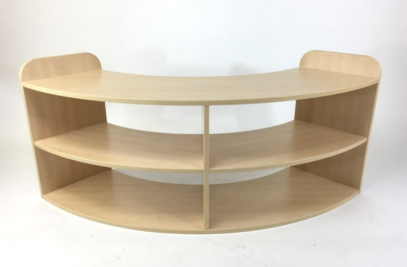 Quarter Curved Shelving