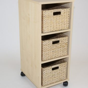 Natural Basket School Tray Unit