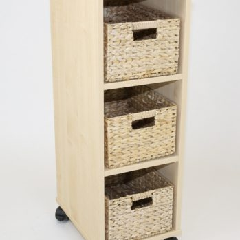 Natural Basket Tray Unit