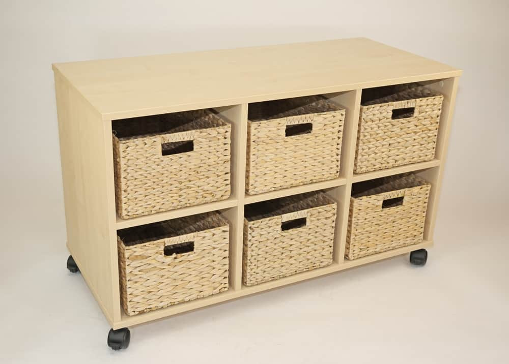 Natural Medium Basket storage unit