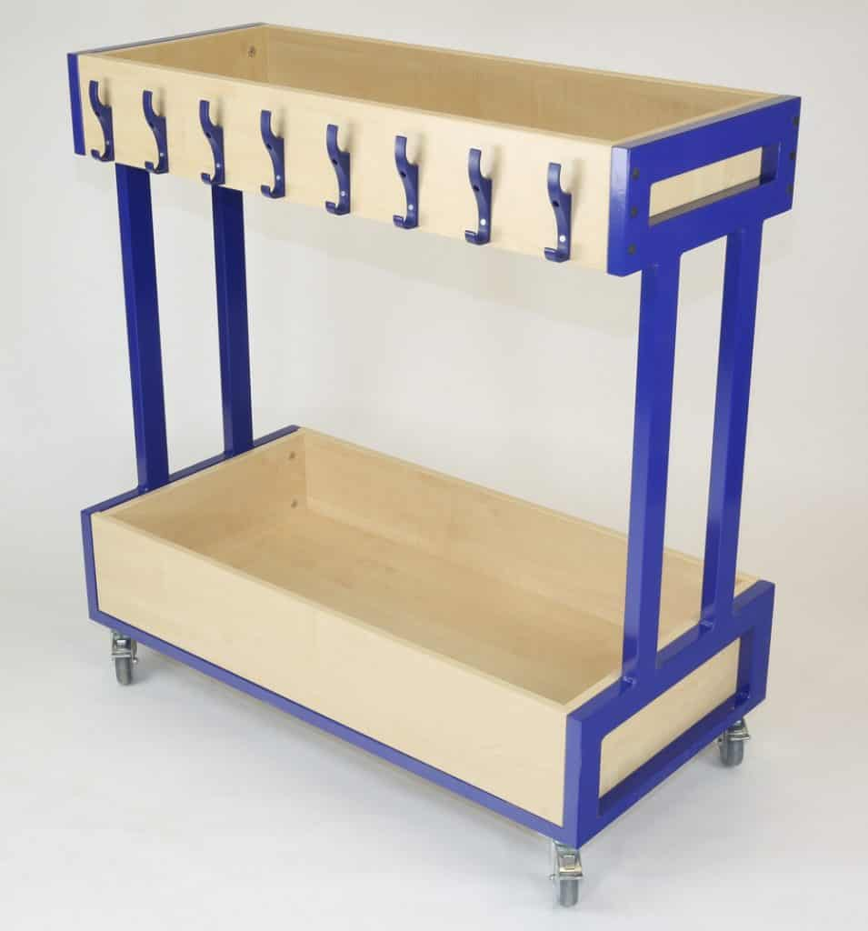 Mini Mobile Cloakroom Trolley with extra storage