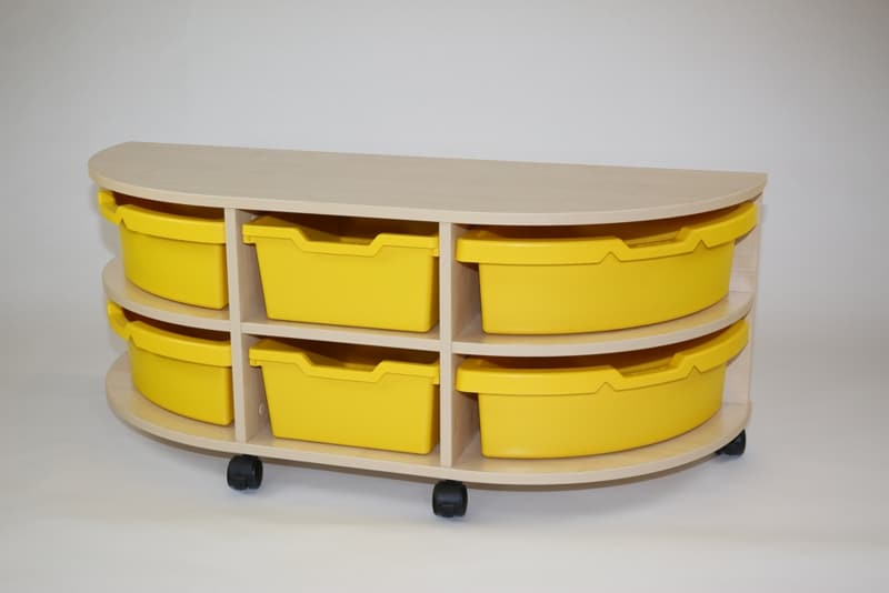 Single Sided Mobile Tray Unit – 2 Trays High