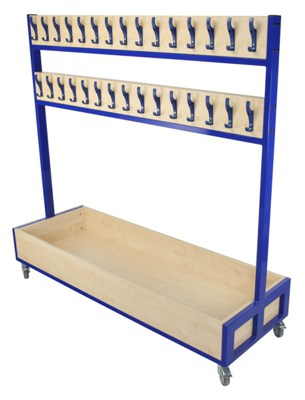 School Cloakroom Furniture Unit with extra hooks