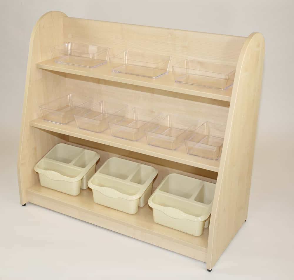 Open Shelf Unit with Baskets & Trays Included