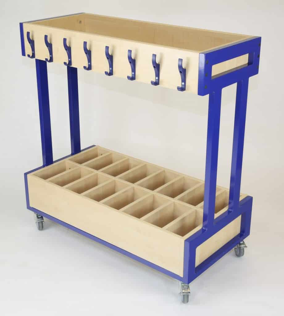 Mini Mobile Cloakroom Trolley with extra divided storage