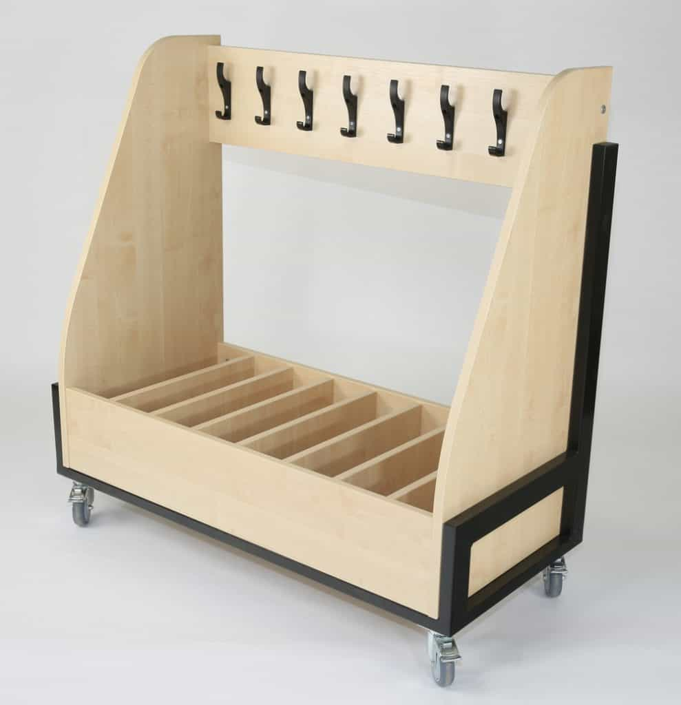 Single Sided Mobile Cloakroom Trolley
