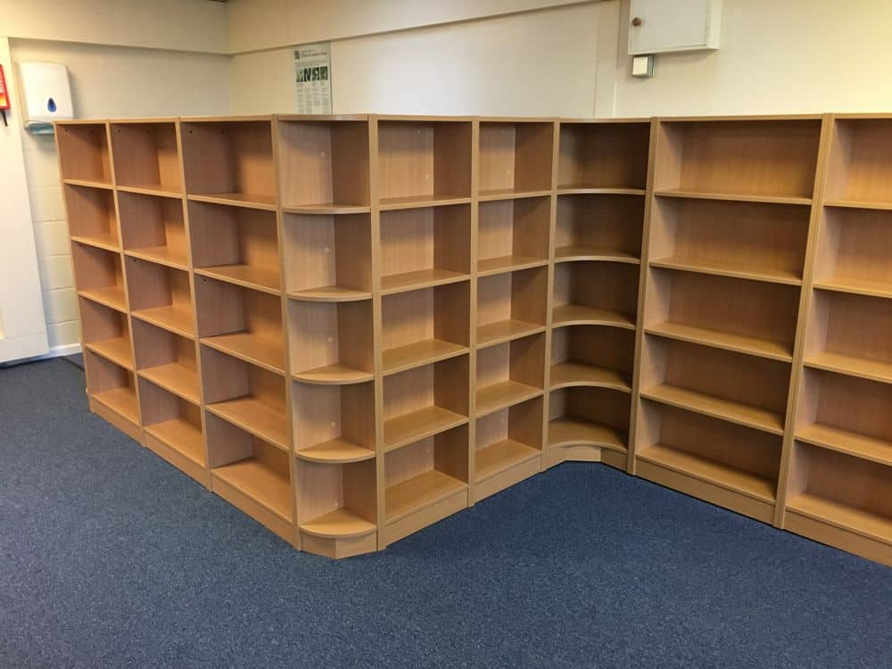 School library shelving