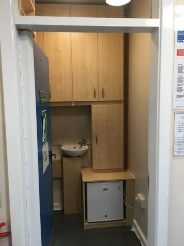 1st Aid Room built in storage