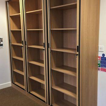 Tambour Door Office Storage