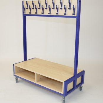 School mobile cloakroom trolley