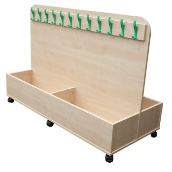 School mobile cloakroom trolley