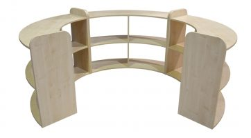 Early Years curved open shelf units